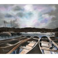 Print - Derwent Water Bridge by Annette Burgess