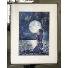 Framed Art - Reach for The Moon by Charlie Marshall