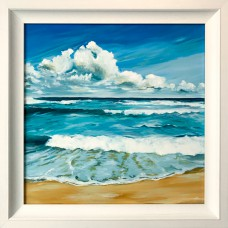 Framed Art - Aqua Sea by Clare McKinnell