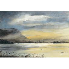 Print - Loch Leven In The Evening by Claire Mckinnell