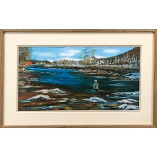 Framed Art - Casting On The Dee by Michael Murphy