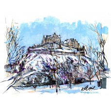 Art Print - Edinburgh Castle In Winter