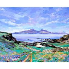Art Print - Isle Of Rum From Muck