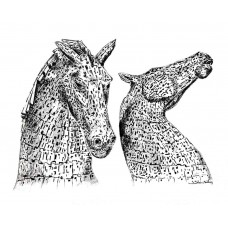 Canvas - The Kelpies by Jenny Stewart