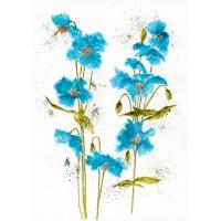 Print - Blue Pansies by Nancy Aitken