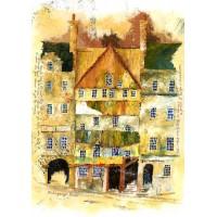 Print - Mahogany Lane Old Edinburgh by Robbie Peterson