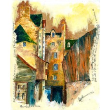 Print - Plain Stairs Close Old Edinburgh by Robbie Peterson