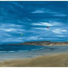 Print - East Lothian Kite Surfing by Sam Coull