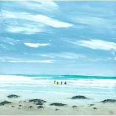 Print - Dunbar Surfers by Sam Coull