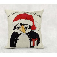 Cushion - Christmas Penguin