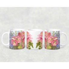 Mug - Hollyhocks