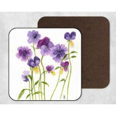 Coaster - Purple Flowers
